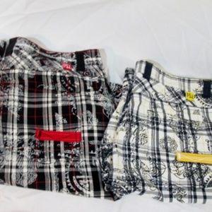 Lot PEPE JEANS LONDON Shorts Plaid Madras